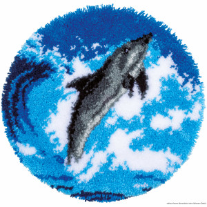 """Vervaco Latch hook kit shaped rug """"Dolphin"""""""