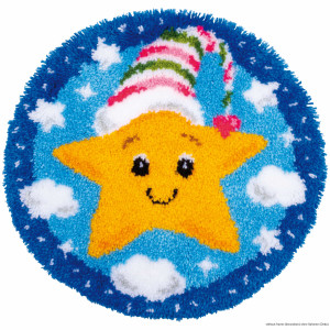 """Vervaco Latch hook kit shaped rug """"Little star"""""""
