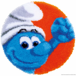 """Vervaco Latch hook kit shaped rug """"The Smurfs..."""