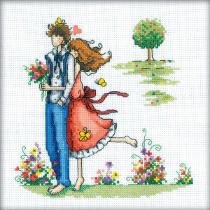 """RTO counted Cross Stitch Kit """"Couple in nature""""..."""