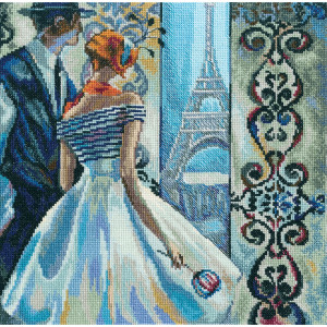 """RTO counted Cross Stitch Kit """"Spring in Paris""""..."""