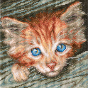 """RTO counted Cross Stitch Kit """"Fluffy observer""""..."""