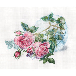 """RTO counted Cross Stitch Kit """"Tender flower..."""