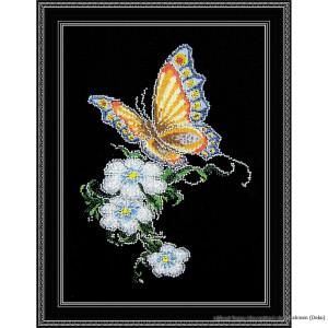 """Oven Kreuzstichset """"Schmetterling auf einer..."""