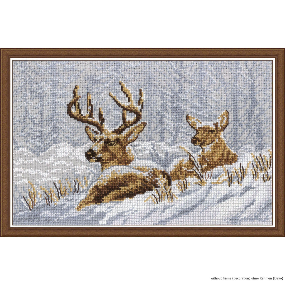 Kit counted cross stitch bookmark the reindeer kids