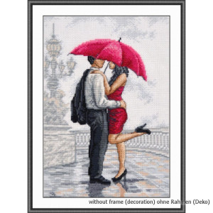 """Oven counted cross stitch kit """"In rain"""",..."""