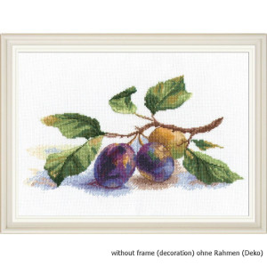 """Oven counted cross stitch kit """"Sprig of plum"""",..."""