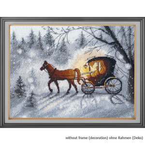 """Oven counted cross stitch kit """"Evening walk"""",..."""