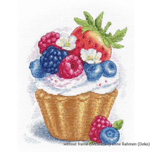 """Oven counted cross stitch kit """"Berry dessert"""",..."""