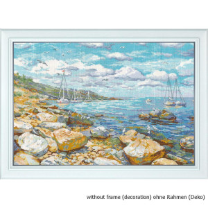 """Oven counted cross stitch kit """"Crimean coast"""",..."""