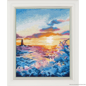 """Oven counted cross stitch kit """"Sunset on the..."""