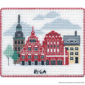 """Oven counted cross stitch kit """"Magnet. Riga"""",..."""