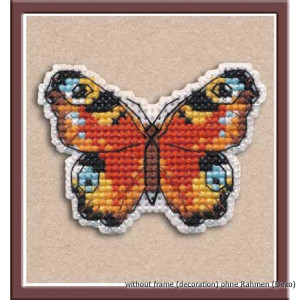 """Oven counted cross stitch kit """"Badge. peacock..."""