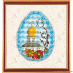 """Oven counted cross stitch kit """"Magnet. Easter..."""