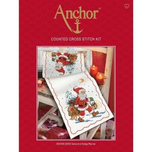 """Anchor Kreuzstich-Set """"Tischläufer Santa /..."""