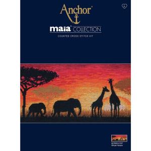 "Anchor Maia Collection Kreuzstich-Set ""Afrikanischer..."