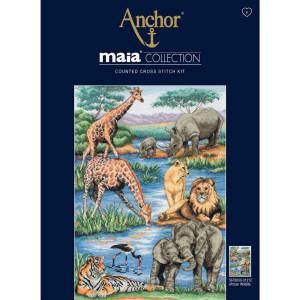 "Anchor Maia Collection Kreuzstich-Set ""Afrikanische..."