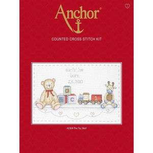 """Anchor counted Cross Stitch kit """"The Toy Shelf Birth..."""