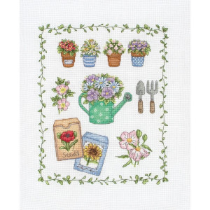 """Anchor counted Cross Stitch kit """"My Garden"""", DIY"""