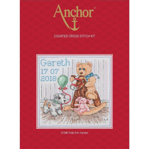 "Anchor counted Cross Stitch kit ""Teddy Birth..."