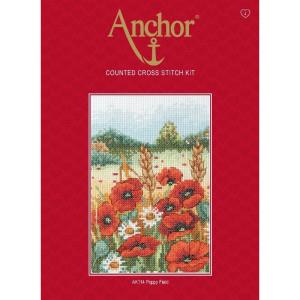 "Anchor Kreuzstich-Set ""Mohnfeld"", Zählmuster"