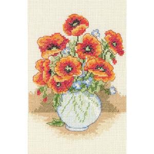 "Anchor counted Cross Stitch kit ""Poppy Vase"", DIY"