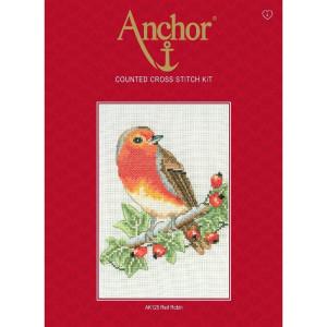 """Anchor Kreuzstich-Set """"Rotkehlchen"""",..."""
