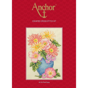 """Anchor counted Cross Stitch kit """"Floral Spray"""",..."""