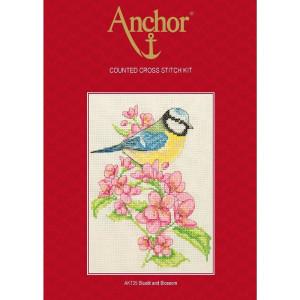 """Anchor Kreuzstich-Set """"Bluetit und Blüte"""",..."""