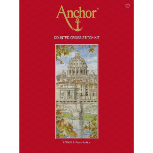 """Anchor Kreuzstich-Set """"St. Peters Basilika"""",..."""