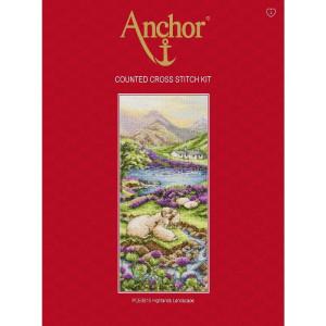 "Anchor Kreuzstich-Set ""Hochlandlandschaft"",..."