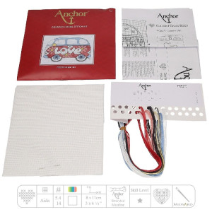 """Anchor counted Cross Stitch kit """"Camper Van"""", DIY"""
