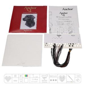 """Anchor Kreuzstich-Set """"Schwarzer Labrador"""",..."""