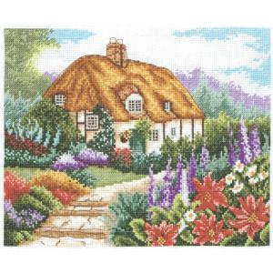 """Anchor Kreuzstich-Set """"Bauerngarten in voller..."""