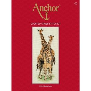 """Anchor Kreuzstich-Set """"Giraffenfamilie"""",..."""