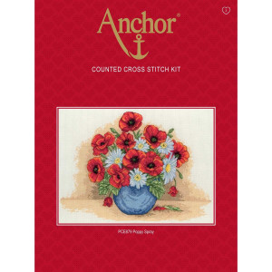 "Anchor counted Cross Stitch kit ""Poppy Spray"", DIY"