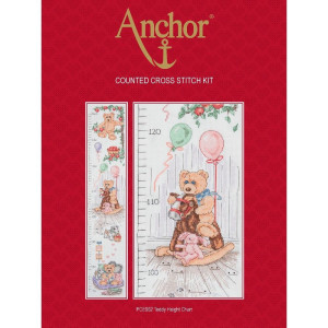 """Anchor counted Cross Stitch kit """"Teddy Height..."""