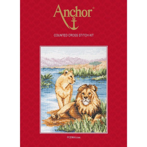 """Anchor Kreuzstich-Set """"Löwen"""",..."""