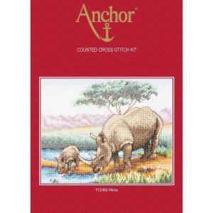 "Anchor Kreuzstich-Set ""Nashörner"",..."
