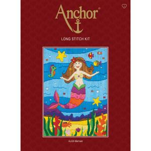 "Anchor stamped Long Stitch kit ""Mermaid"", DIY"