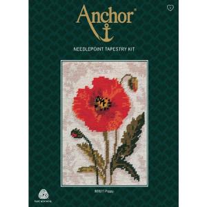 "Anchor Starters stamped Tapisserie Stitch kit ""Poppy..."