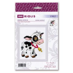 """Riolis Kreuzstich-Set """"Kalb mit der Glocke""""..."""