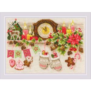 """Riolis Kreuzstichpackung """"Weihnachtsregal""""..."""