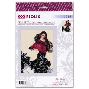 """Riolis Kreuzstich Set """"Tänzerin mit einem..."""