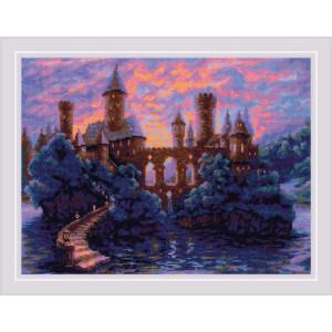 "Riolis Kreuzstich Set ""Mysteriöse Burg"",..."