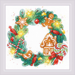 """Riolis counted cross stitch kit """"Gingerbread..."""