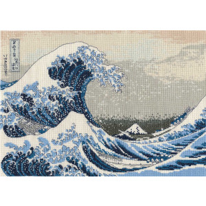 """DMC counted Cross Stitch kit """"The Great Wave""""..."""