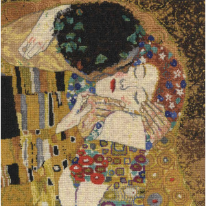 """DMC counted Cross Stitch kit """"The Kiss"""" after..."""