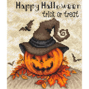 """Letistitch counted cross stitch kit """"Trick or..."""