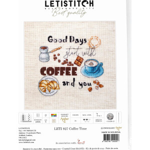 """Letistitch counted cross stitch kit """"Coffee..."""